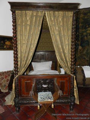 Sypialnia na zamku w Niedzicy